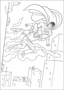 раскраска Супермен (14)
