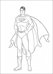 kleurplaat Superman (15)