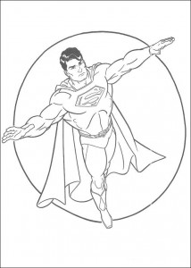 раскраска Супермен (16)