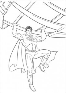 раскраска Супермен (17)