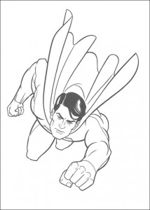 раскраска Супермен (18)
