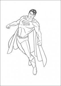 kleurplaat Superman (19)
