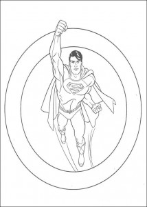 kleurplaat Superman (20)
