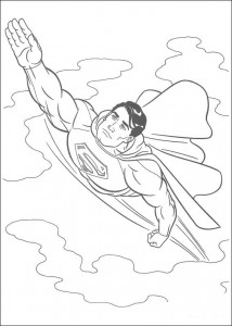 раскраска Супермен (22)