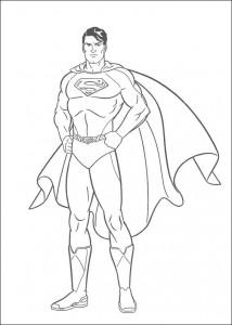 kleurplaat Superman (23)