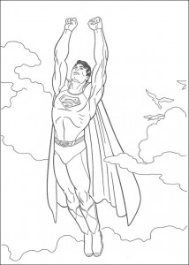 kleurplaat Superman (24)