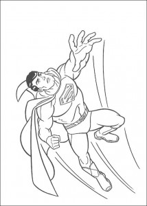 раскраска Супермен (25)
