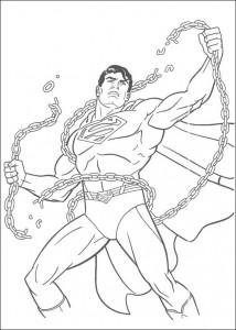 раскраска Супермен (27)