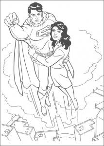 раскраска Супермен (28)