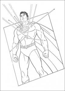kleurplaat Superman (8)
