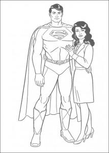 kleurplaat Superman en Loïs Lane (1)