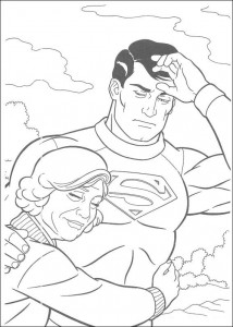 pagina da colorare Superman e sua madre