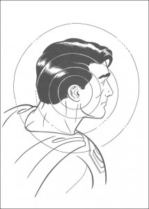 målarbok Superman i sikte