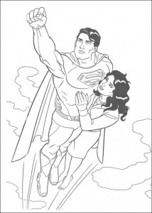 раскраска Супермен спасает Лоис