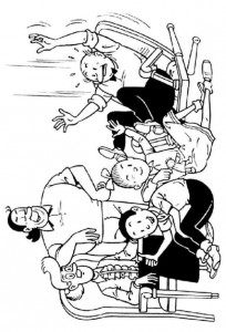 coloring page Suske and Wiske (4)