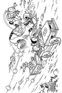 coloring page Suske og Wiske (6)