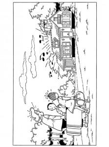 coloring page Suske og Wiske (9)