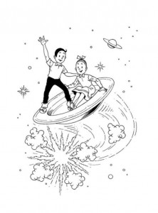 coloring page Suske and Wiske