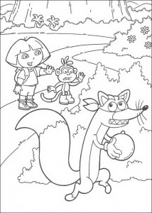 coloring page Swiper steals the ball