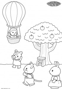 coloring page Sylvanian Families (1)
