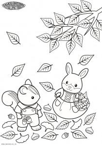 Dibujo para colorear Sylvanian Families (15)
