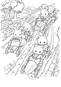 coloring page Sylvanian Families (2)