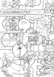 Dibujo para colorear Sylvanian Families (3)