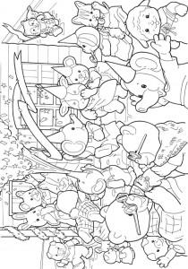 раскраска Сильванские семьи (4)