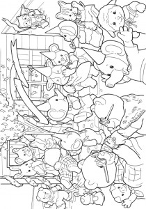 Dibujo para colorear Sylvanian Families (4)