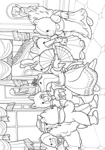 coloring page Sylvanian Families (6)