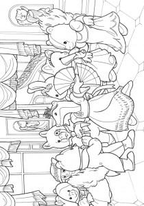 Dibujo para colorear Sylvanian Families (6)