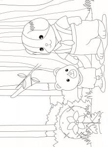 раскраска Сильванские семьи (7)