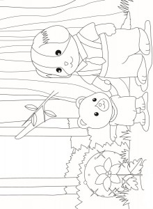 Dibujo para colorear Sylvanian Families (7)