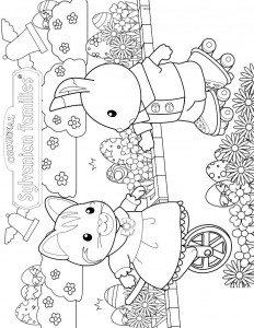 coloring page Sylvanian Families