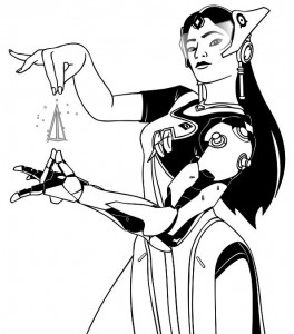 symmetra coloring side