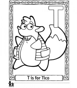 coloring page T Tico