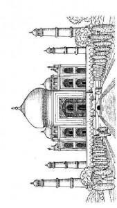 målarbok Taj Mahal