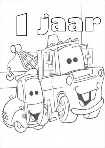 coloring page Takel 1 year