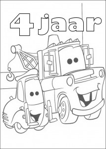 coloring page Takel 4 year