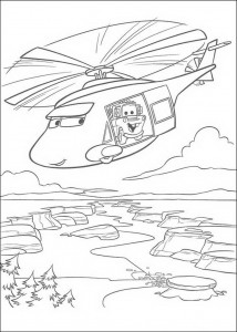 coloring page Hoist in the helicopter