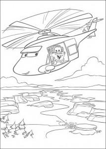 kleurplaat Takel in de helicopter