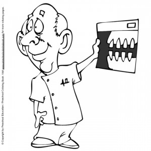 coloring page Dentist with photo