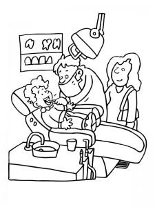 målarbok Tandläkare