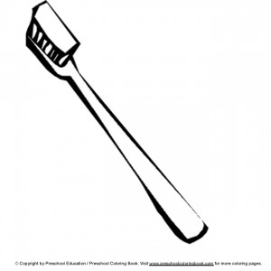 coloring page Toothbrush