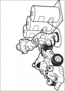 coloring page Refueling