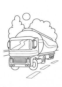 coloring page Tank truck (1)