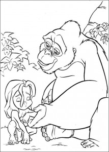 kleurplaat Tarzan (27)