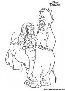 kleurplaat Tarzan (3)