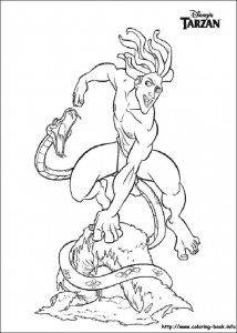 kleurplaat Tarzan (4)