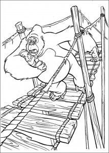 kleurplaat Tarzan (55)